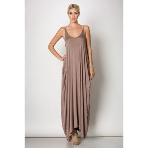 Fab'rik Maxi Dress Jersey Harem Pockets Boho